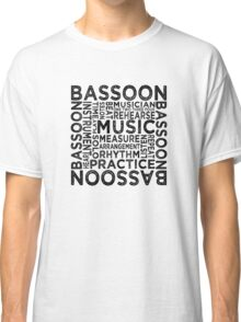 Bassoon Typography Classic T-Shirt
