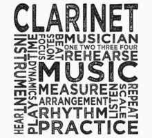 Clarinet Typography One Piece - Long Sleeve