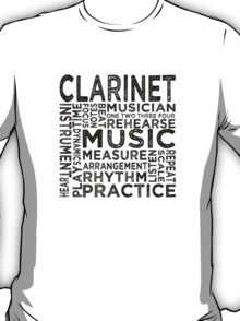 Clarinet Typography T-Shirt