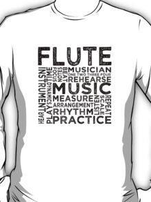 Flute Typography T-Shirt