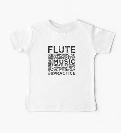 Flute Typography Baby Tee