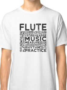 Flute Typography Classic T-Shirt