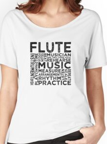 Flute Typography Women's Relaxed Fit T-Shirt