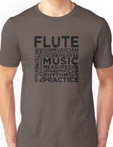 Flute Typography Unisex T-Shirt