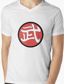 武 Mens V-Neck T-Shirt