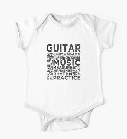 Guitar Typography One Piece - Short Sleeve