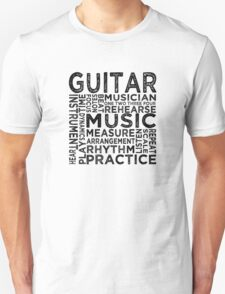 Guitar Typography T-Shirt