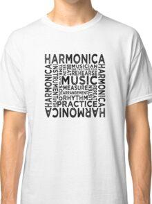 Harmonica Typography Classic T-Shirt