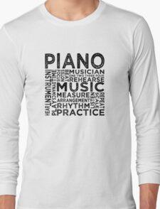 Piano Typography T-Shirt