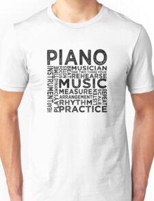 Piano Typography Unisex T-Shirt