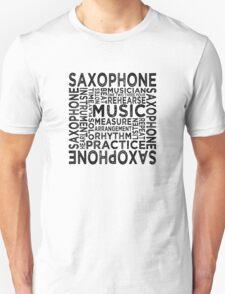 Saxophone Typography T-Shirt