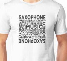 Saxophone Typography Unisex T-Shirt