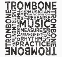 Trombone Typography Kids Clothes