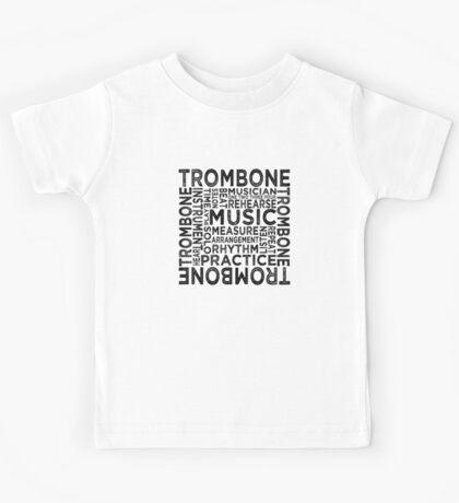 Trombone Typography Kids Tee