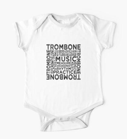 Trombone Typography One Piece - Short Sleeve