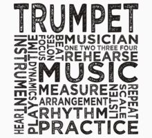 Trumpet Typography Kids Clothes
