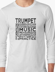 Trumpet Typography Long Sleeve T-Shirt