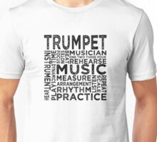 Trumpet Typography Unisex T-Shirt