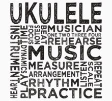 Ukulele Typography Kids Clothes