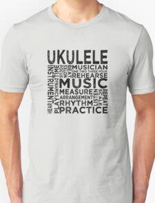 Ukulele Typography Unisex T-Shirt