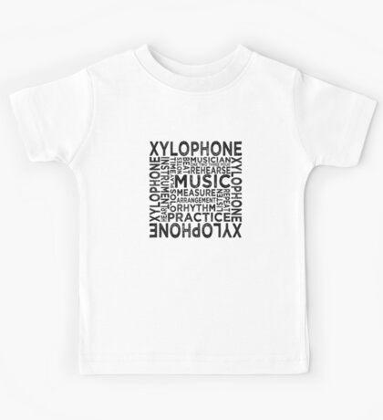 Xylophone Typography Kids Tee