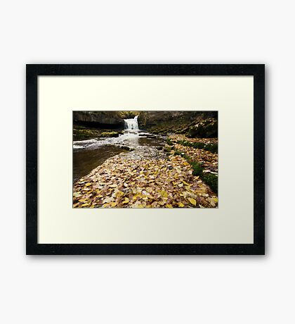 West Burton Waterfall Framed Print