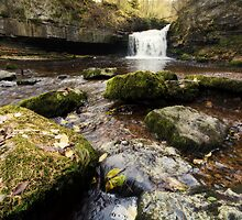 West Burton Waterfall by English Landscape Prints