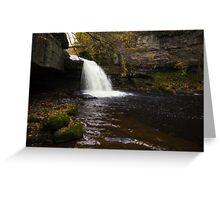 West Burton Waterfall Greeting Card