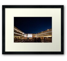 St. Marks Square At Night Framed Print