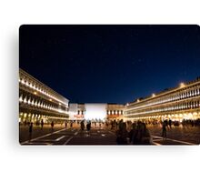 St. Marks Square At Night Canvas Print
