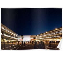 St. Marks Square At Night Poster