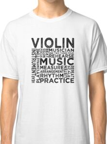 Violin Typography Classic T-Shirt