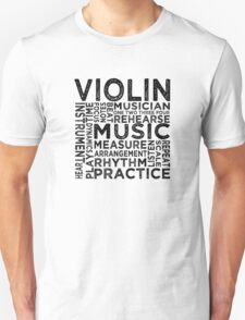 Violin Typography T-Shirt