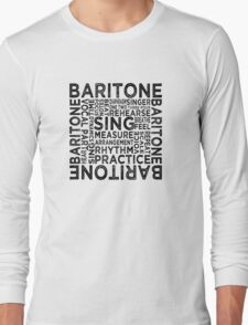 Baritone Typography Long Sleeve T-Shirt