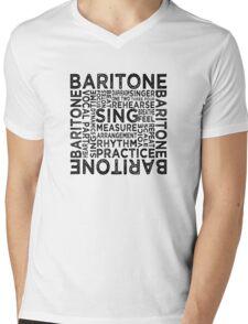 Baritone Typography Mens V-Neck T-Shirt
