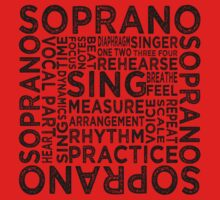 Soprano Typography One Piece - Long Sleeve