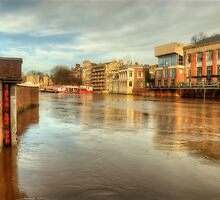 York In Flood by English Landscape Prints