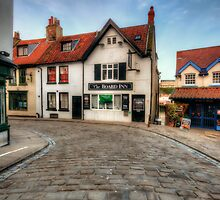 Whitby Cobbled Streets by English Landscape Prints