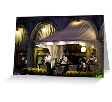 Venician Band St. Marks Square Greeting Card