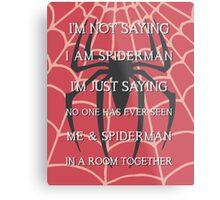 Half Spider - Half Man Metal Print