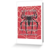 Half Spider - Half Man Greeting Card