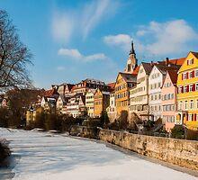 Tübingen - View from the Neckar Bridge by Mark Bangert