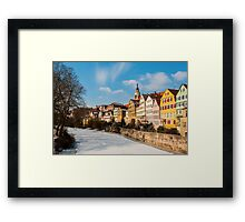 Tübingen - View from the Neckar Bridge Framed Print