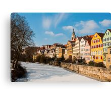 Tübingen - View from the Neckar Bridge Canvas Print