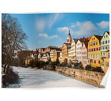 Tübingen - View from the Neckar Bridge Poster