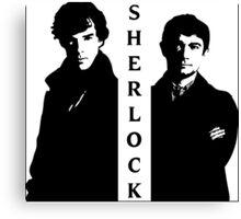 Sherlock & Watson Canvas Print