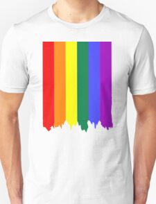 LGBT Gay Pride Rainbow Drip Paint T-Shirt
