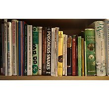 Fathers bookshelf Photographic Print