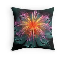 Fiber Optic Flower Throw Pillow