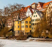 Tübingen - Hölderlinturm by the River Neckar by Mark Bangert